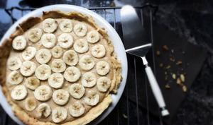 Tarte à la crème multrifruits & aux bananes