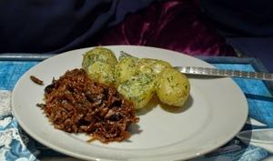 Pommes de terre sautées à la crème, échalotes, persil à la Lorraine