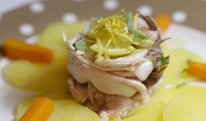 Aile de raie à la vinaigrette de citron