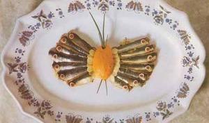 Papillon de sardines fraîches