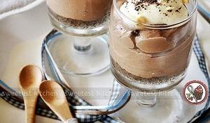 Cheesecake au nutella, crème et poires