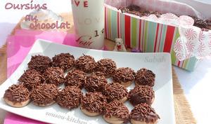 Oursins au chocolat-gateaux algeriens