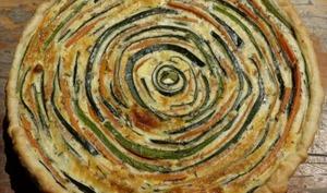 Tarte spirale bicolore
