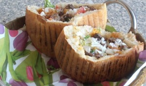 "sandwich viande ""koftée"" au pain turc"