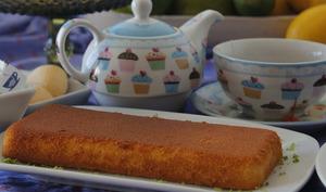 Gâteau à la rhubarbe, sans gluten, léger en calories