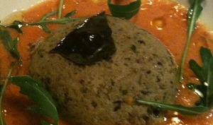 Flan mousse aux aubergines, poivrons, oignons - vegétarien