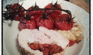 Filet de dinde rôti aux tomates séchées et à la mozzarella