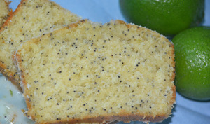Cake au yaourt citron vert et pavot