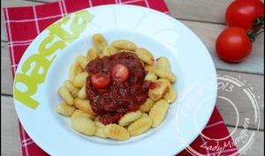 Gnocchis à poêler, sauce aux tomates fraîches