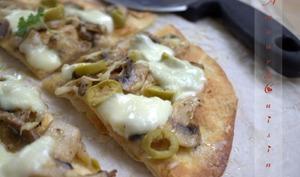 Pizza a base de tortillas