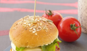Hamburgers aux légumes du soleil