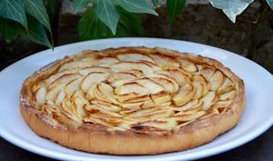 Tarte aux pommes et abricots