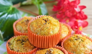 Muffins Courgettes, Curry et Mimolette