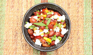 Salade de haricots rouges aux saveurs tex-mex