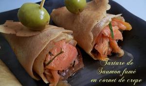 tartare de saumon aux crepes