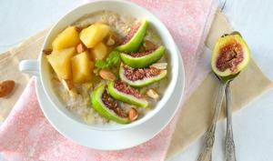 Porridge sans gluten, sans lactose {figues-pommes-amandes}
