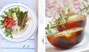 Salade italienne, haricots verts, artichauts