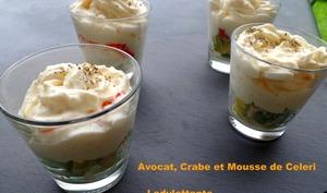 Verrines Avocat, Crabe et mousse de Celeri