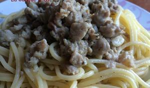 Spaghettis à la saucisse