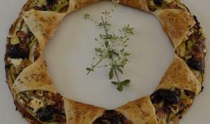 Pizza couronne feuilletée