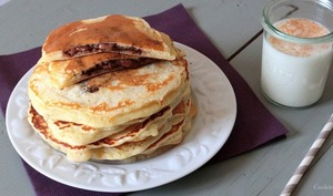 Pancakes fourrés au nutella