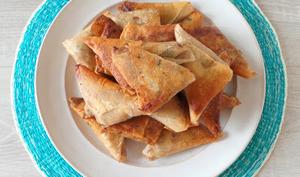 Samoussas au boeuf, coriandre et fromage
