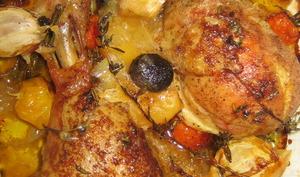 Tajine marocain de poulet au citron confit