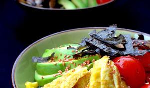 Salade de Ramen au crabe