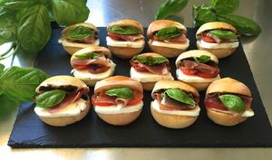 Petits sandwichs aux couleurs de l' Italie