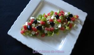 Salade fraîcheur, pastèque, feta
