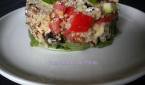 Salade méditerranéenne au quinoa-boulgour