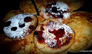 Pancakes à la vanille et aux fruits rouges