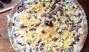 Tarte Streusel aux Raisins Muscat et Noix