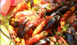 Fideua aux fruits de mer