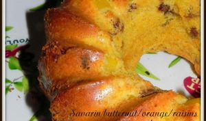 Savarin butternut/orange/raisins