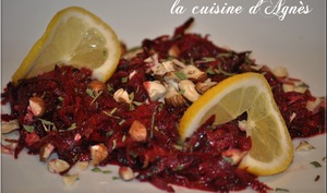 salade de betterave rouge crue