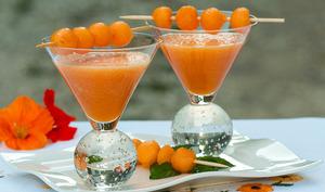 Soupe de melon glacée au vin de Sureau