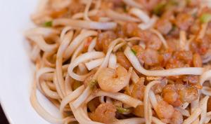 Nouilles Sautées aux crevettes teriyaki