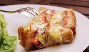 Croque cake au saumon fumé