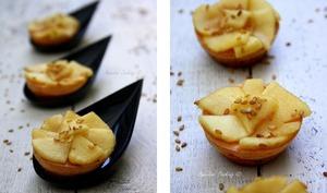 Cheesecake apéritifs aux pommes et sésame