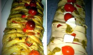 Tresse feuilletée au pesto et à la tomate