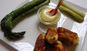 Croquettes de saumon et sauce curry
