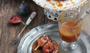 Gâteau aux figues et caramel