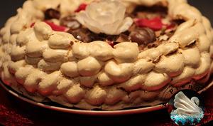 Pavlova aux marrons et pépites de chocolat