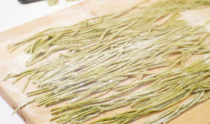 Pâtes fraiches aux pousses d'épinard