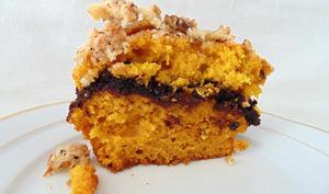 Pumpkin cake au coeur chocolat