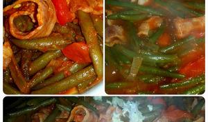 Haricots verts aux sauce tomates et paprika doux