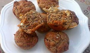Muffins au chorizo, chèvre, et son de blé