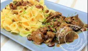 Foies de volaille aux raisins secs