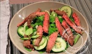 Salade de bœuf au basilic